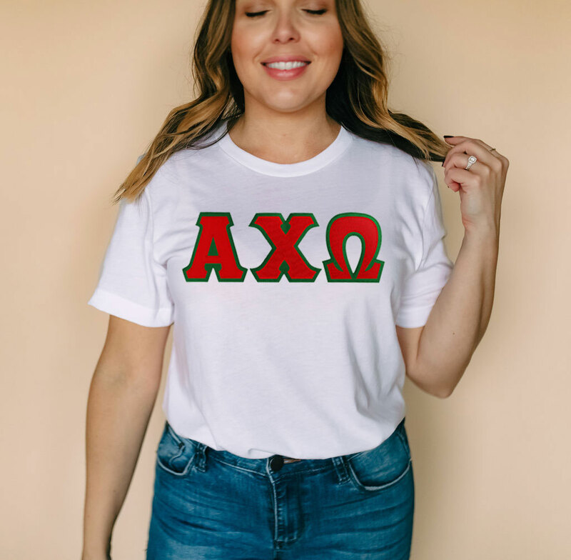 DISCOUNT Alpha Chi Omega Lettered Tee