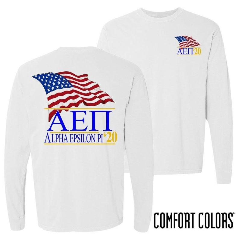 Alpha Epsilon Pi Patriot Long Sleeve T-shirt - Comfort Colors