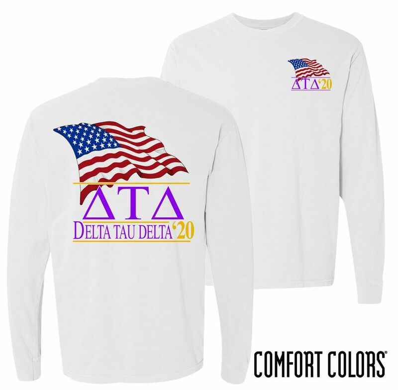 Delta Tau Delta Patriot Long Sleeve T-shirt - Comfort Colors
