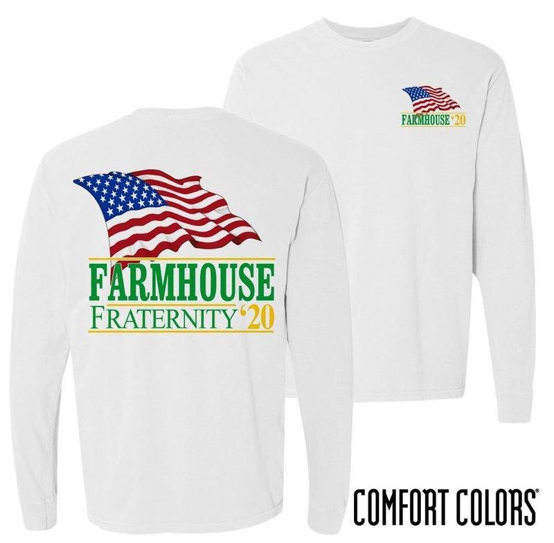 FarmHouse Fraternity Patriot Long Sleeve T-shirt - Comfort Colors