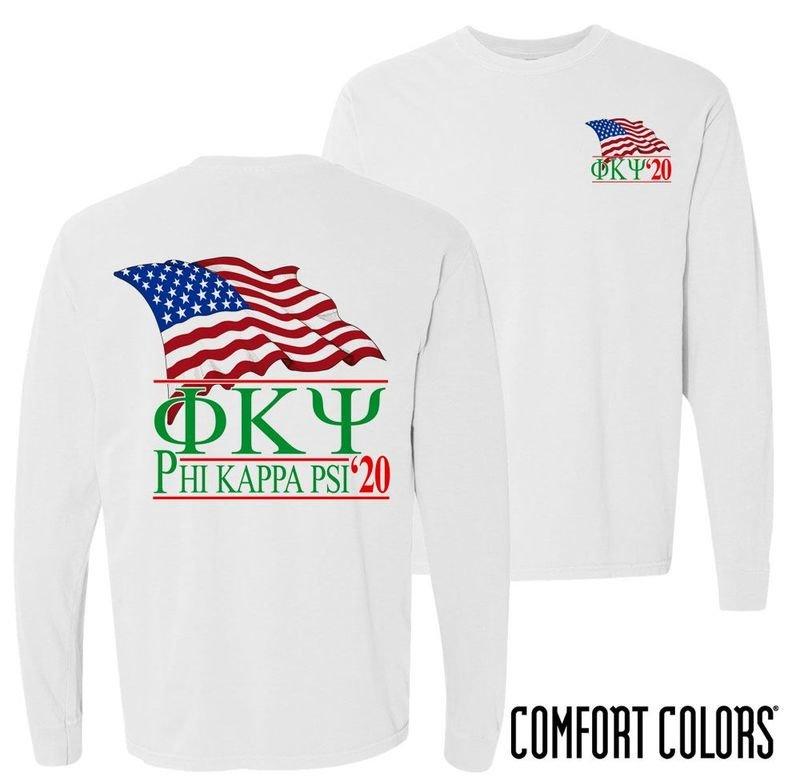 Phi Kappa Psi Patriot Long Sleeve T-shirt - Comfort Colors