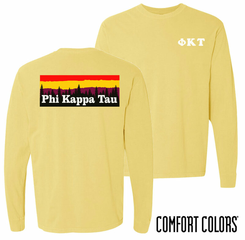 Phi Kappa Tau Outdoor Long Sleeve T-shirt - Comfort Colors