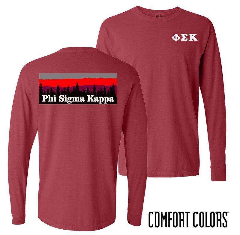 Phi Sigma Kappa Outdoor Long Sleeve T-shirt - Comfort Colors