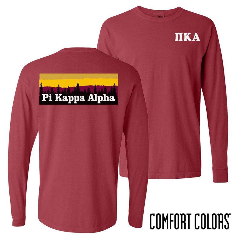 Pi Kappa Alpha Outdoor Long Sleeve T-shirt - Comfort Colors