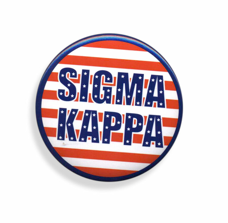 Sigma Kappa Patriotic USA Button