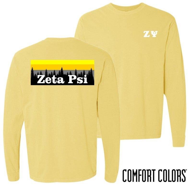 Zeta Psi Outdoor Long Sleeve T-shirt - Comfort Colors