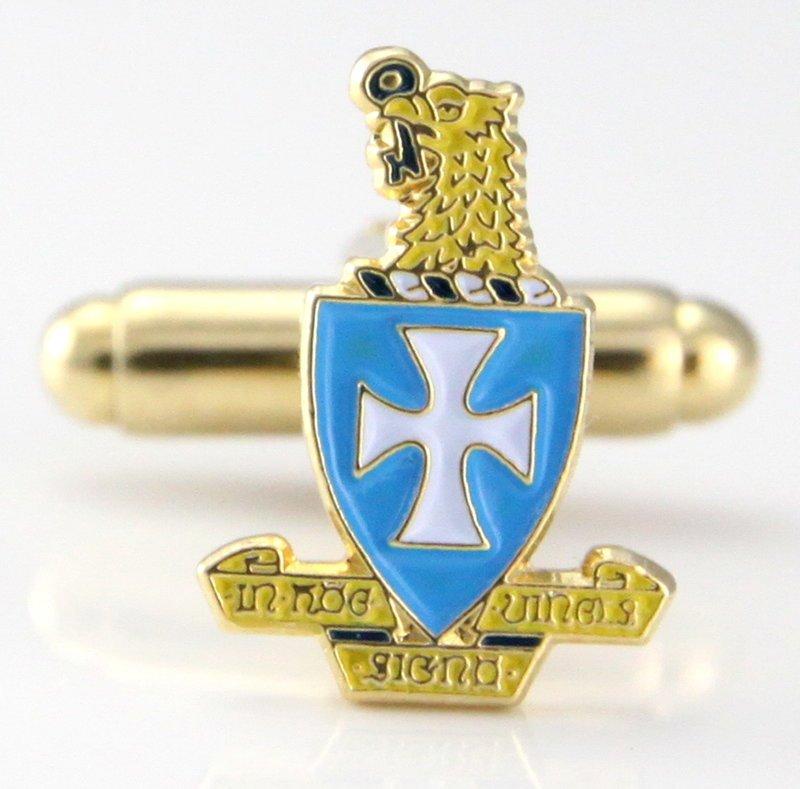 Sigma Chi Color Crest - Shield Cuff links