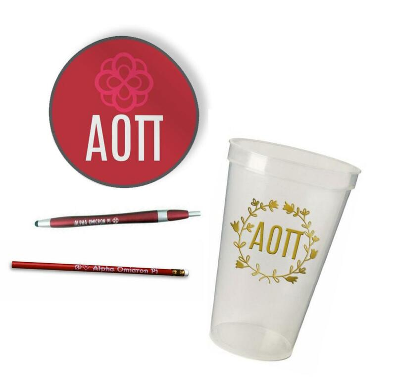 Alpha Omicron Pi Sorority Mascot Set $8.99