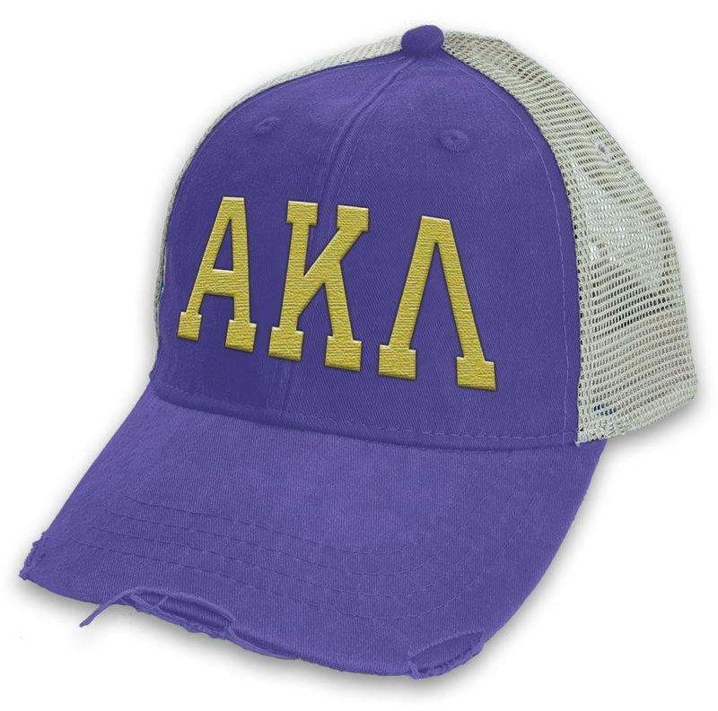 Alpha Kappa Lambda Distressed Trucker Hat