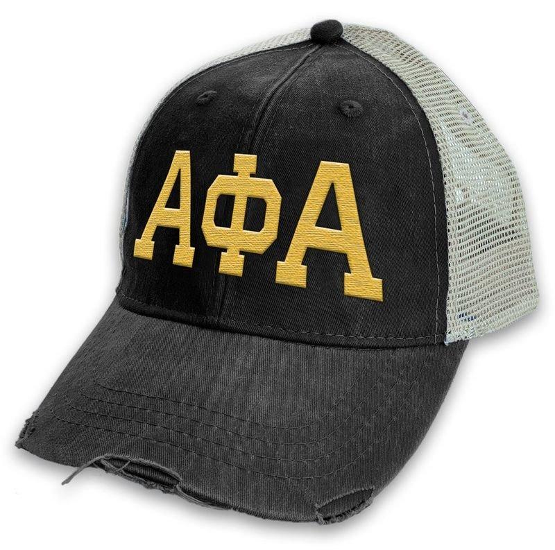 Alpha Phi Alpha Distressed Trucker Hat