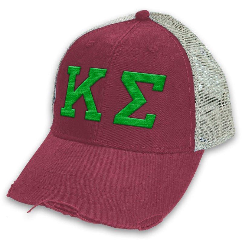 Kappa Sigma Distressed Trucker Hat