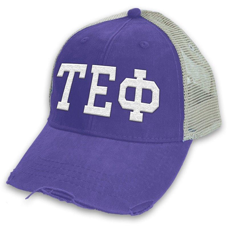 Tau Epsilon Phi Distressed Trucker Hat