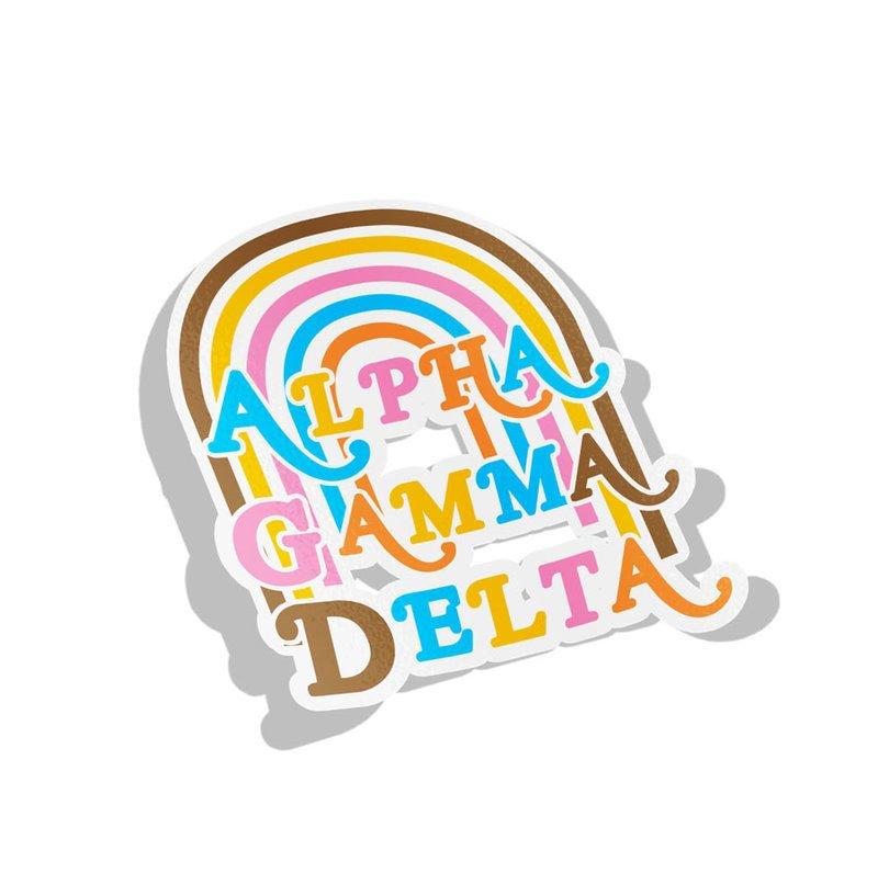 Alpha Gamma Delta Joy Decal Sticker