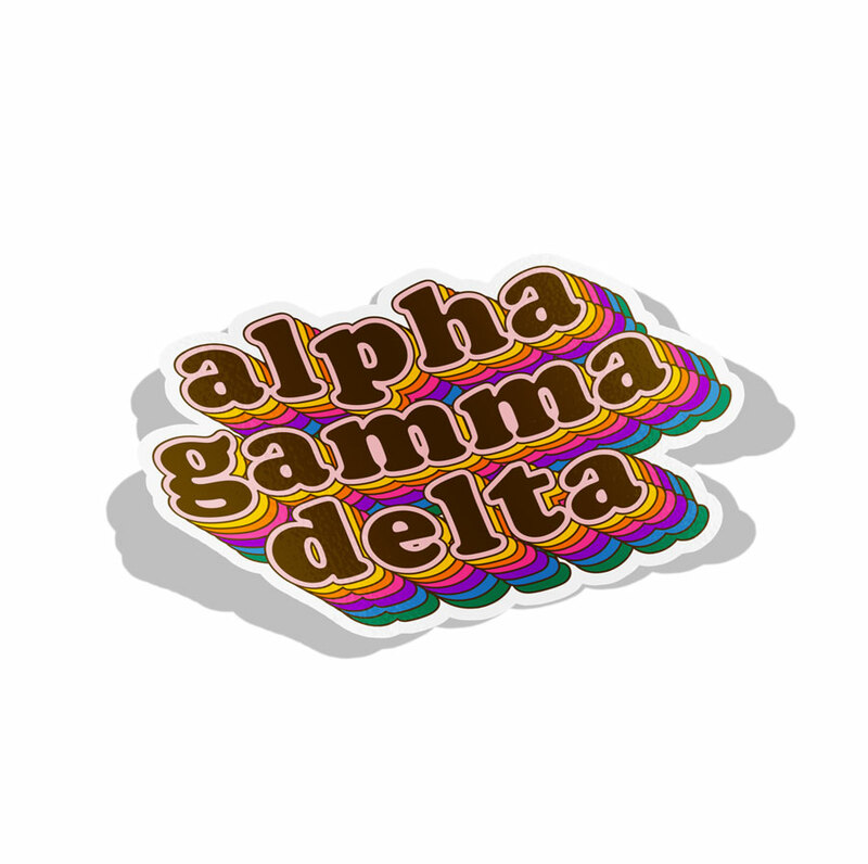 Alpha Gamma Delta Retro Maya Decal Sticker