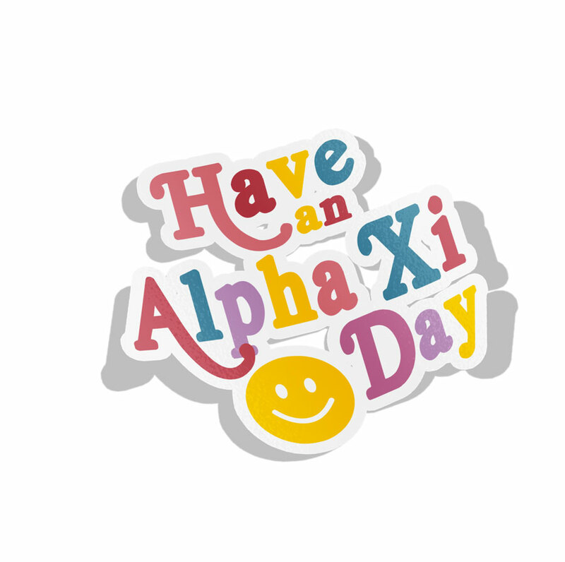 Alpha Xi Delta Day Decal Sticker