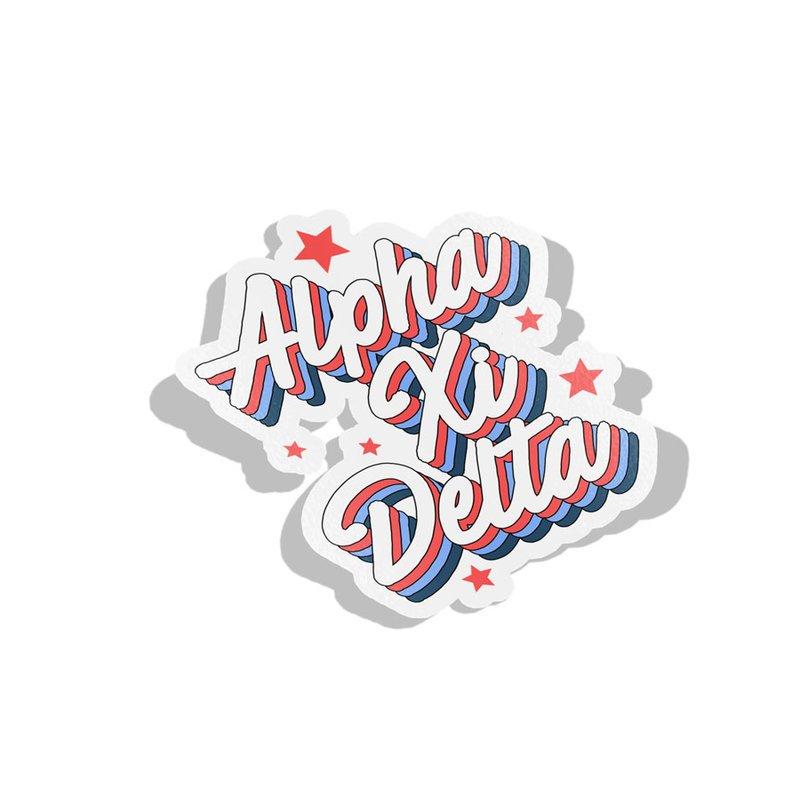 Alpha Xi Delta Flashback Decal Sticker