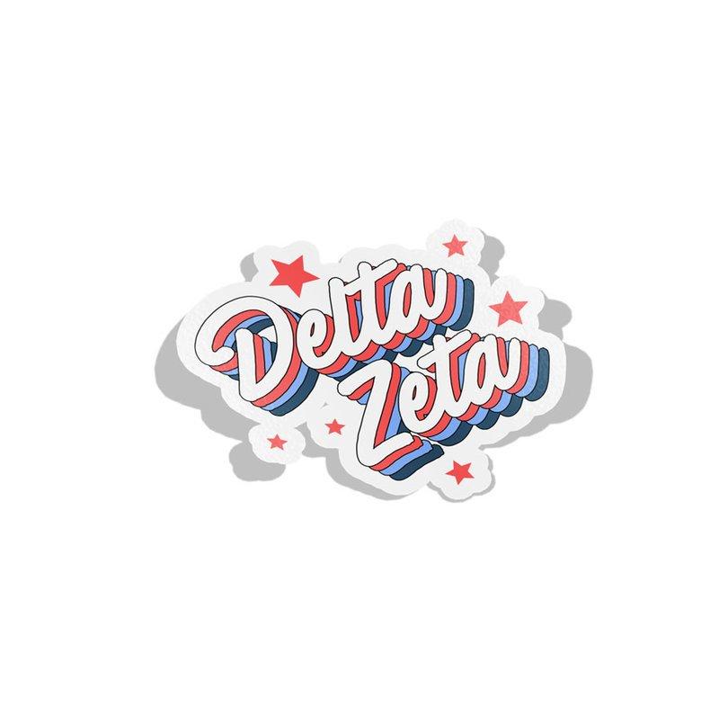 Delta Zeta Flashback Decal Sticker