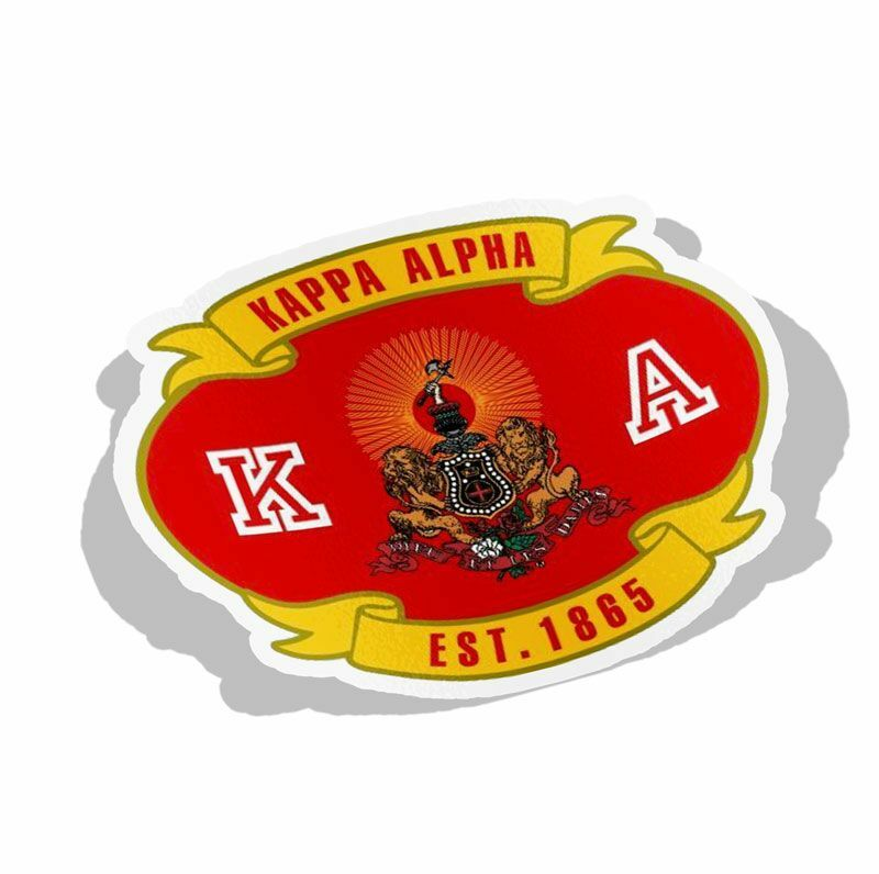 Fraternity Banner Crest - Shield Decal
