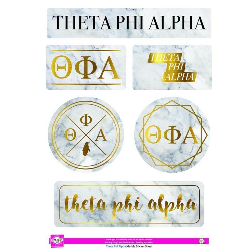 Theta Phi Alpha Marble Sticker Sheet