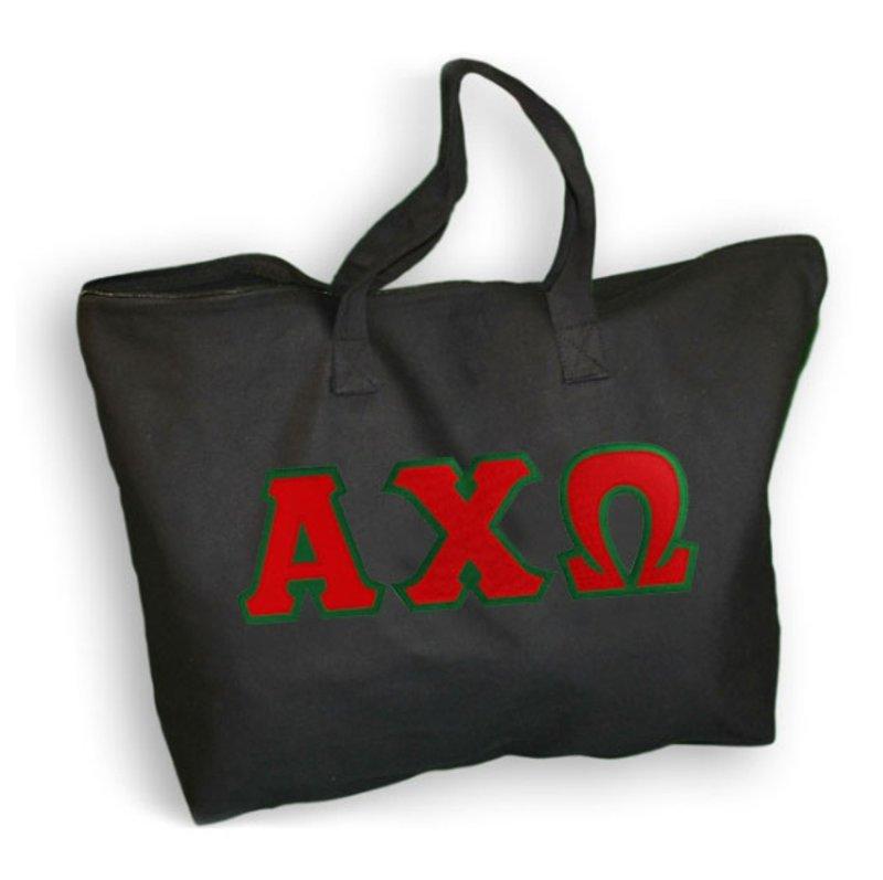 DISCOUNT- Alpha Chi Omega Lettered Tote Bag