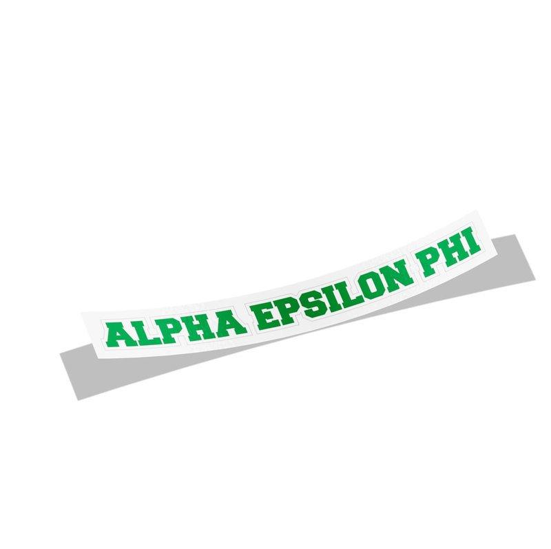 Alpha Epsilon Phi Long Window Sticker