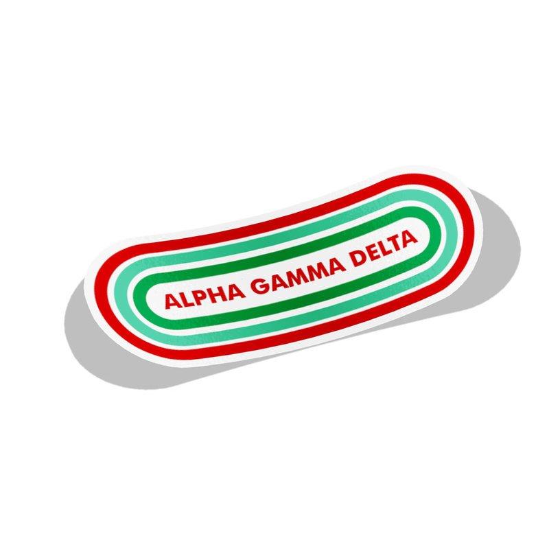 Alpha Gamma Delta Capsule Decal Sticker
