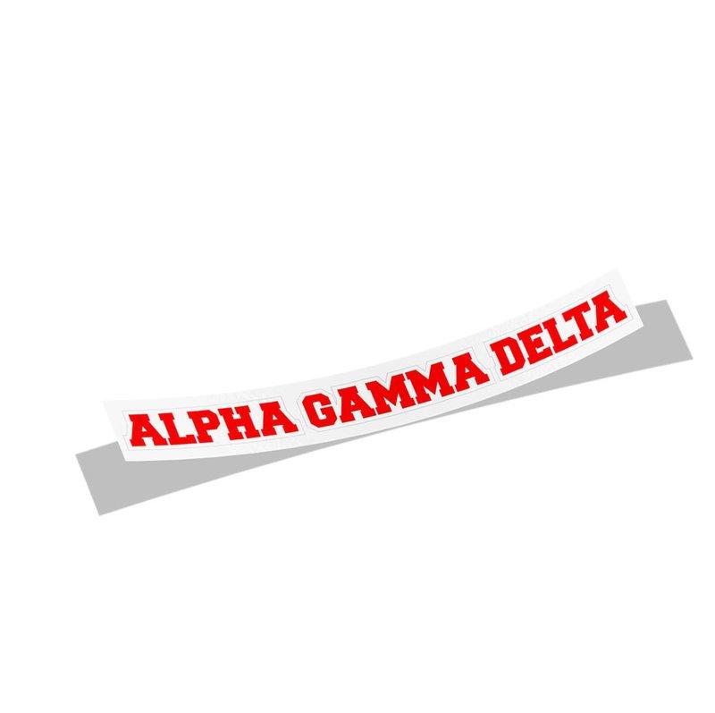 Alpha Gamma Delta Long Window Sticker