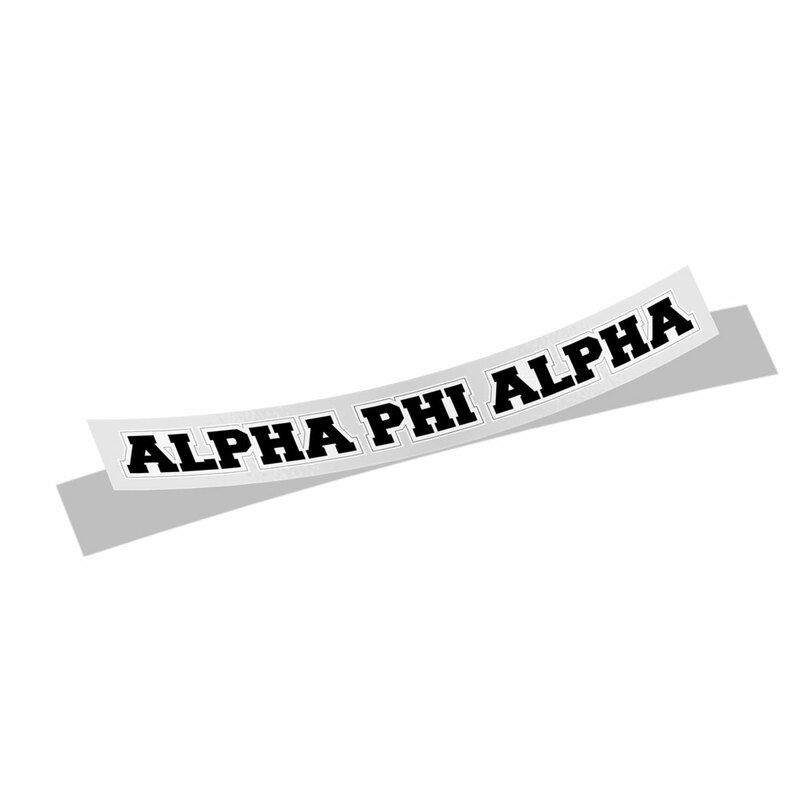 Alpha Phi Alpha Long Window Sticker