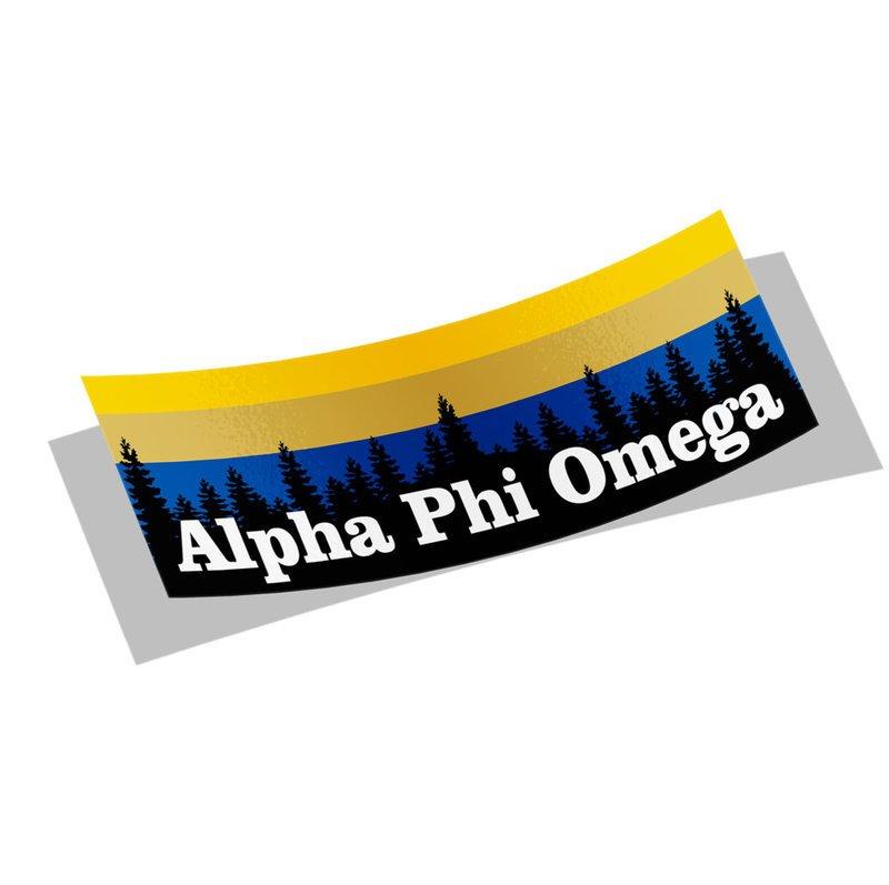 Alpha Phi Omega Mountain Decal Sticker