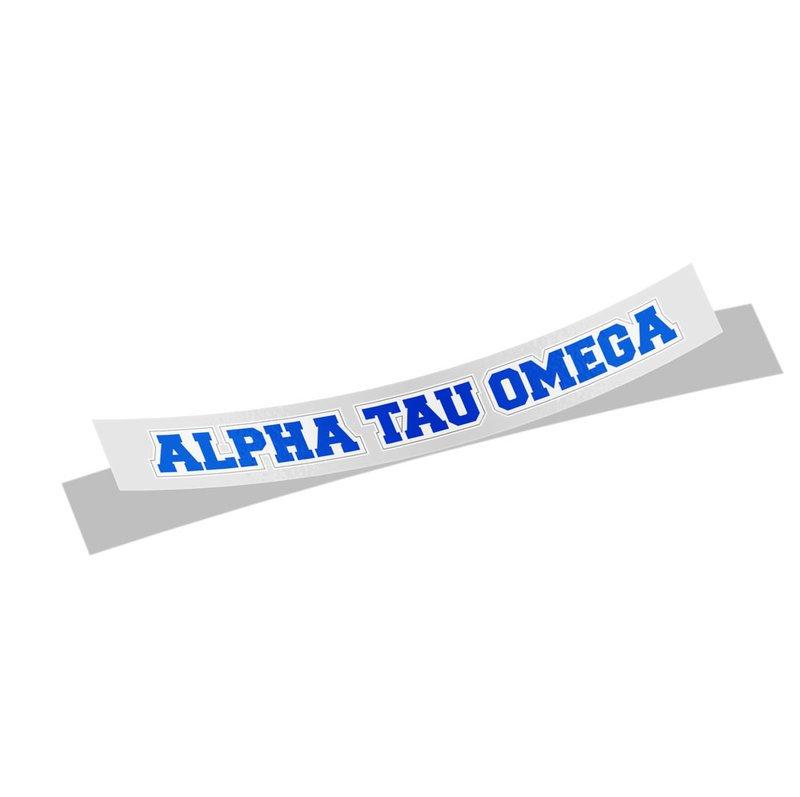 Alpha Tau Omega Long Window Sticker