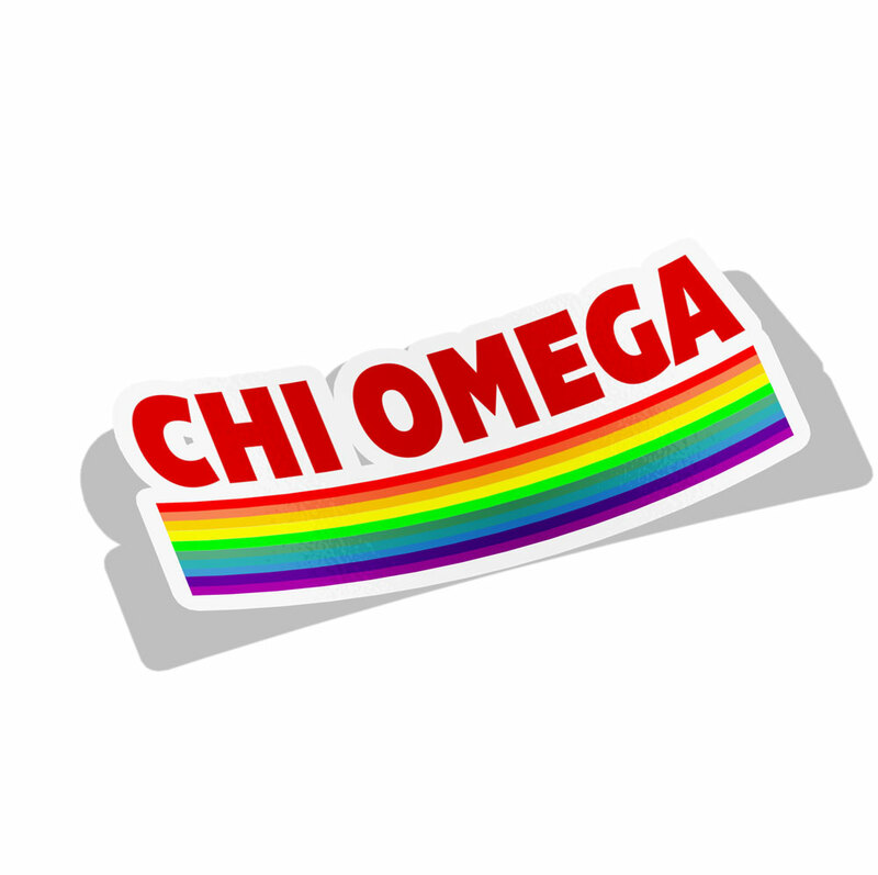 Chi Omega Prism Decal Sticker