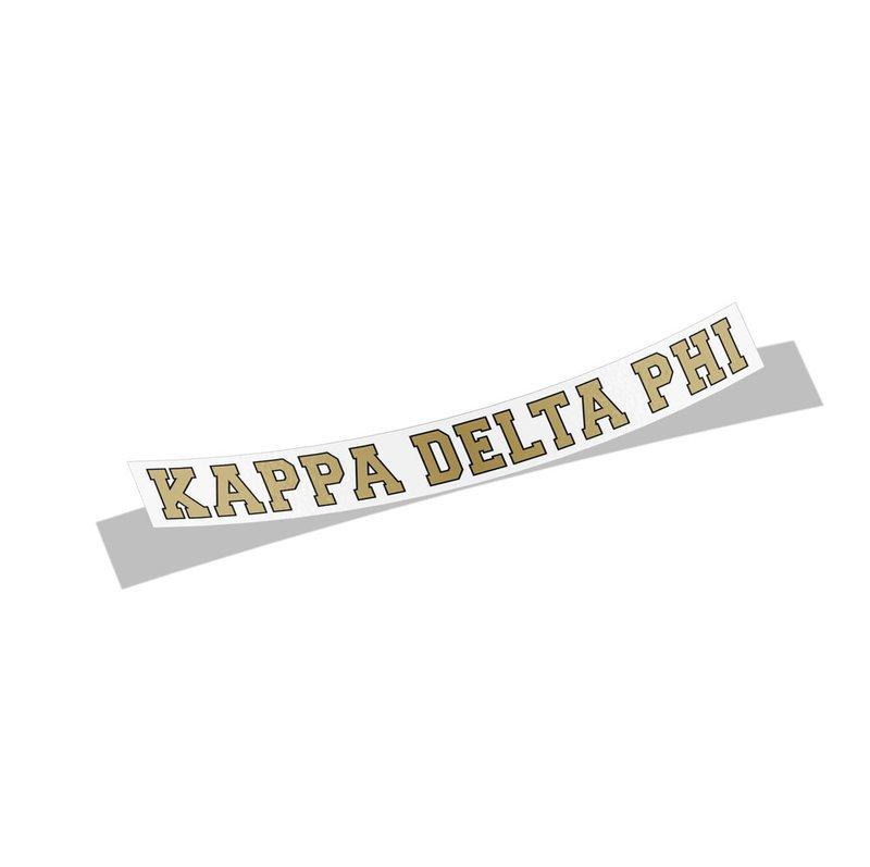 Kappa Delta Phi Long Window Decals Stickers
