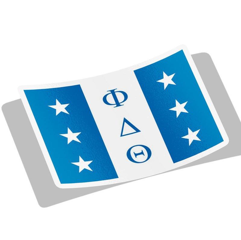 Phi Delta Theta Flag Decal Sticker