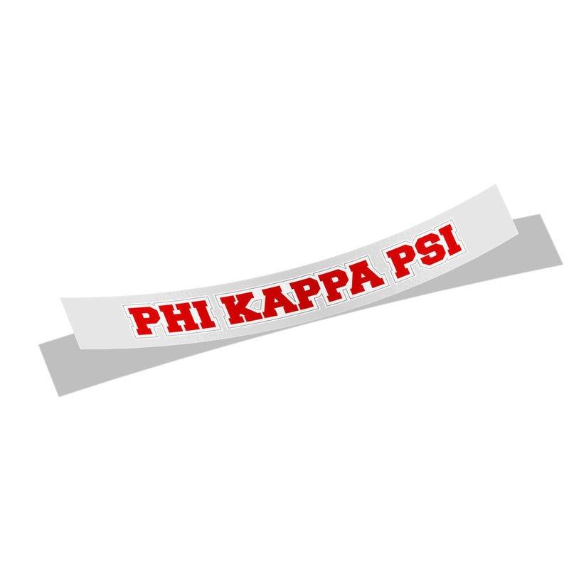 Phi Kappa Psi Long Window Sticker