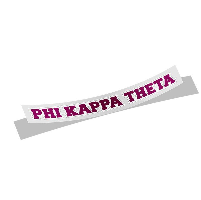 Phi Kappa Theta Long Window Sticker