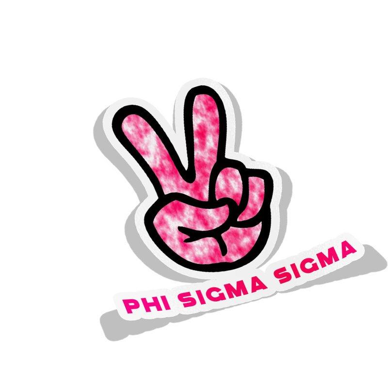 Phi Sigma Sigma Peace Hands Decal Sticker