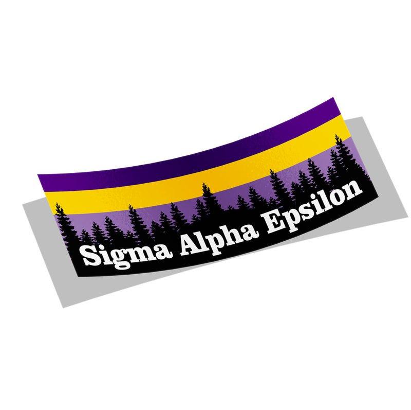 Sigma Alpha Epsilon Mountain Decal Sticker