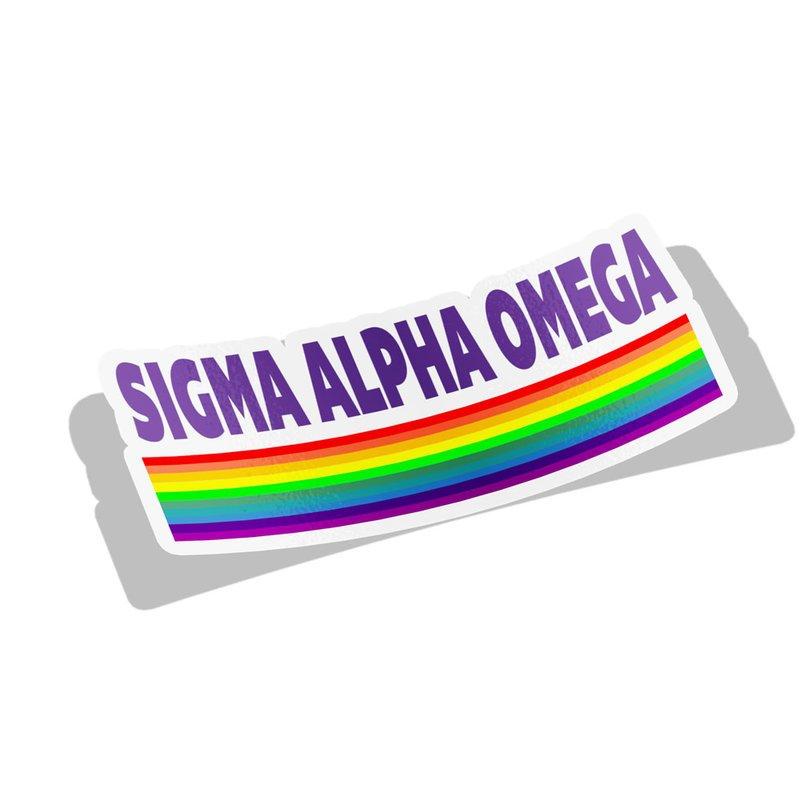 Sigma Alpha Omega Prism Decal Sticker