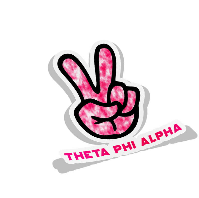 Theta Phi Alpha Peace Hands Decal Sticker