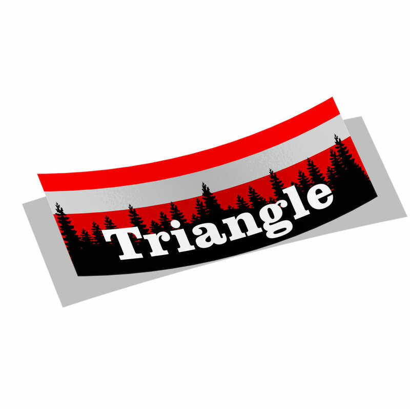 Triangle Mountain Decal Sticker