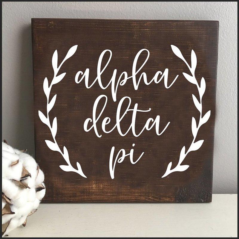 Alpha Delta Pi Wooden Wall Art