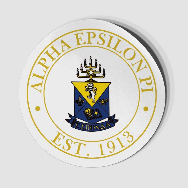 Alpha Epsilon Pi Circle Crest - Shield Decal