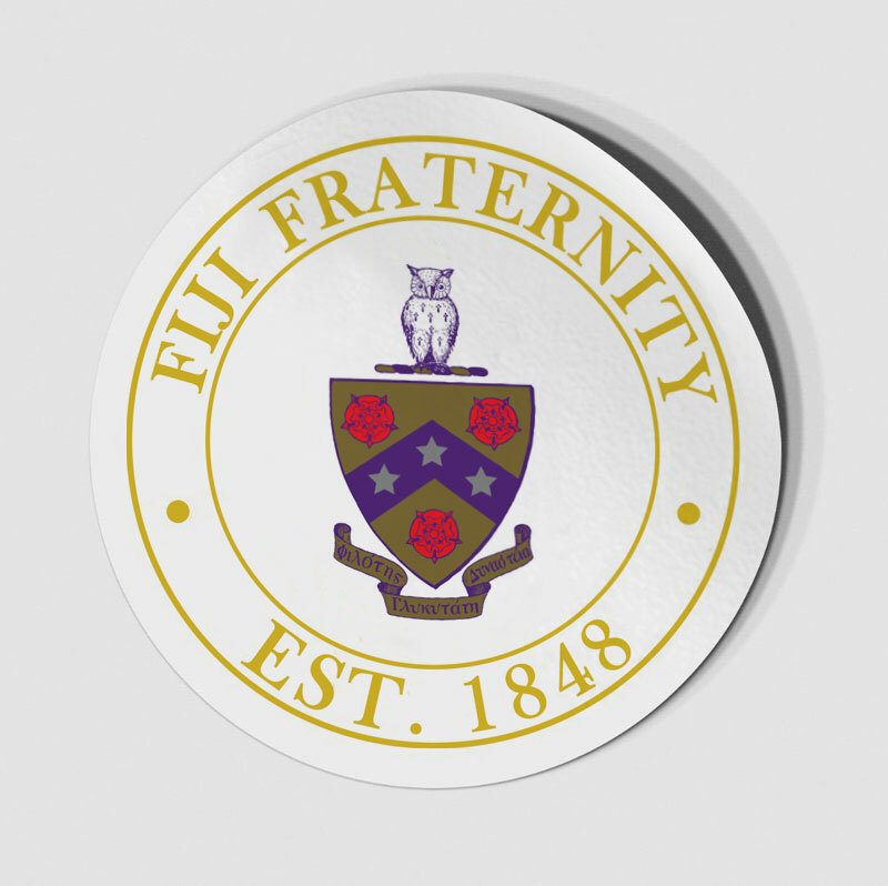 FIJI Fraternity Circle Crest - Shield Decal