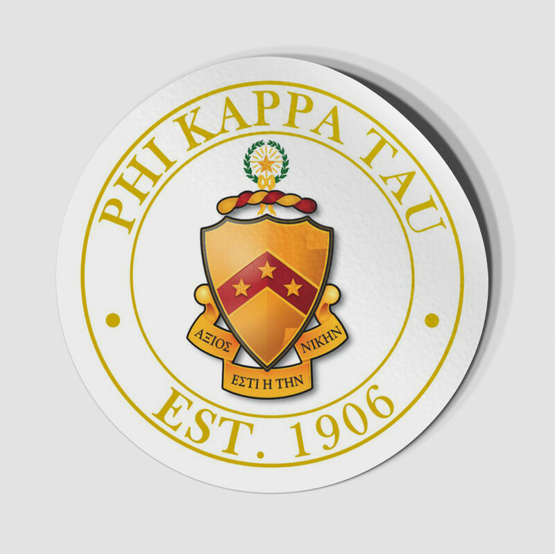 Phi Kappa Tau Circle Crest - Shield Decal