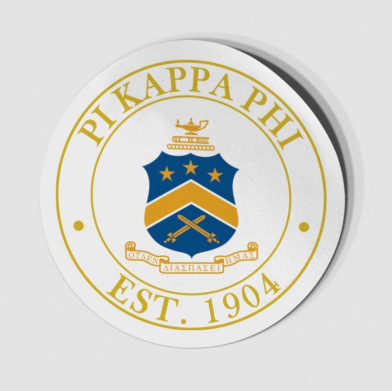 Pi Kappa Phi Circle Crest - Shield Decal