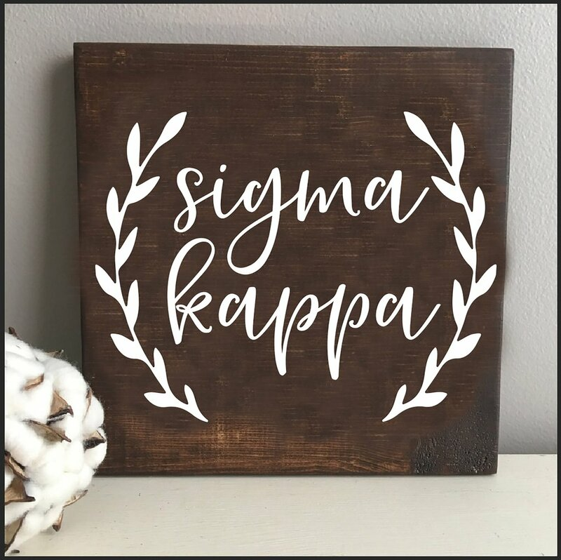 Sigma Kappa Wooden Wall Art
