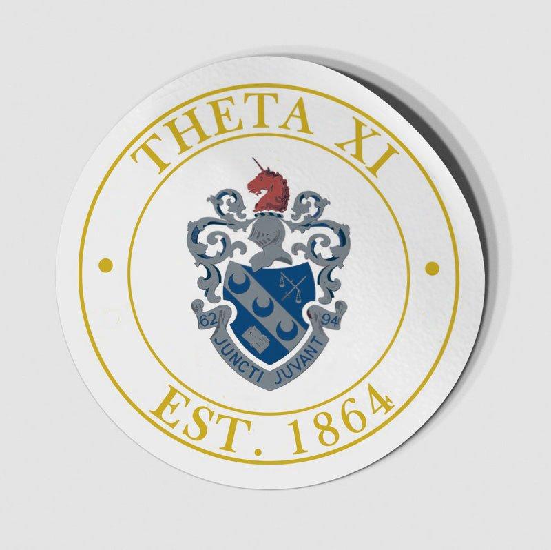 Theta Xi Circle Crest - Shield Decal