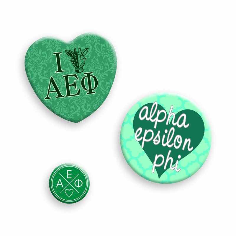 Alpha Epsilon Phi Button Set
