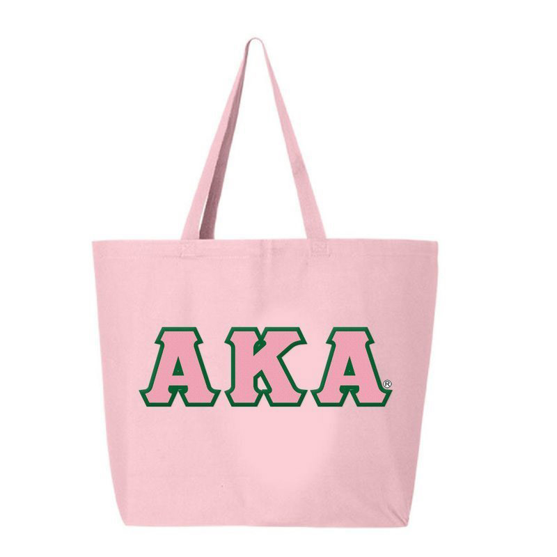 DISCOUNT- Alpha Kappa Alpha Lettered Tote Bag - FREE GROUND SHIPPING