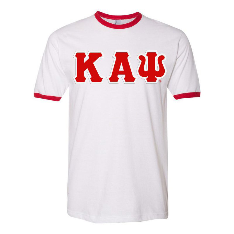DISCOUNT- Kappa Alpha Psi Lettered Ringer Shirt